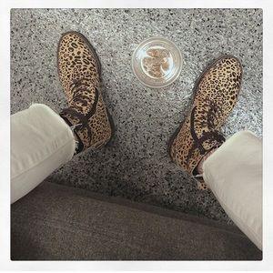 Lucky Brand Cheetah Combat Boot